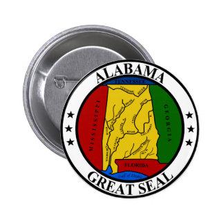 Gran sello de Alabama Pins