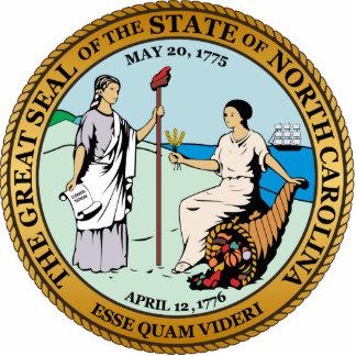 Gran sello de Carolina del Norte Escultura Fotográfica