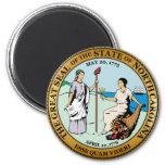 Gran sello de Carolina del Norte Iman De Nevera