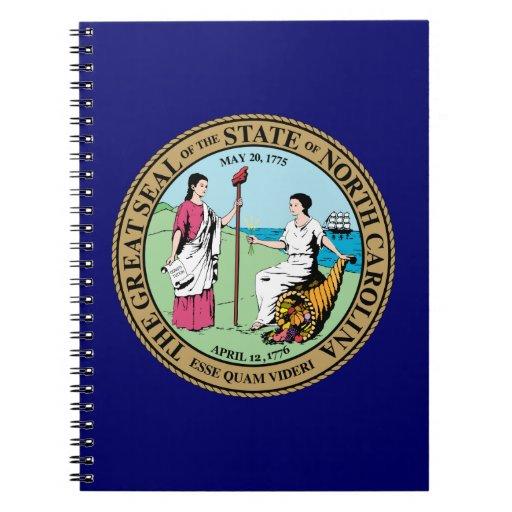 Gran sello de Carolina del Norte Libros De Apuntes Con Espiral