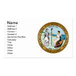 Gran sello de Carolina del Norte Plantilla De Tarjeta Personal