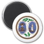 Gran sello de Carolina del Sur Imanes Para Frigoríficos