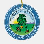 Gran sello de Dakota del Norte Ornamentos De Reyes
