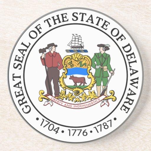Gran sello de Delaware Posavasos Para Bebidas