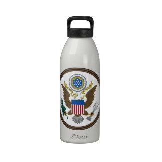 Gran sello de Estados Unidos Botella De Agua