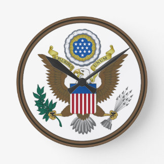 Gran sello de Estados Unidos Reloj Redondo Mediano
