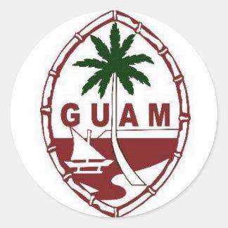 Gran sello de Guam Etiqueta Redonda