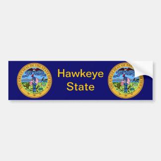 Gran sello de Iowa Pegatina Para Auto
