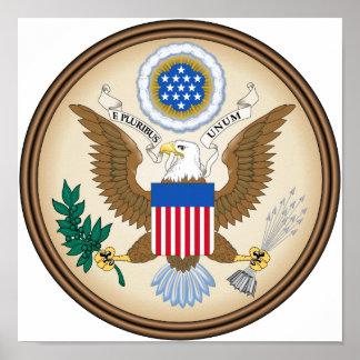 Gran sello de los E.E.U.U. Poster