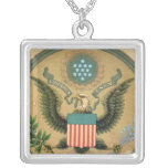Gran sello de los Estados Unidos, c.1850 Collar Plateado