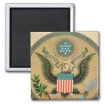 Gran sello de los Estados Unidos, c.1850 Imán Cuadrado