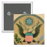 Gran sello de los Estados Unidos, c.1850 Pin Cuadrado
