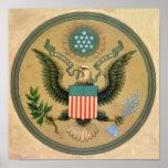 Gran sello de los Estados Unidos, c.1850 Póster