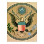 Gran sello de los Estados Unidos, c.1850 Tarjetas Postales