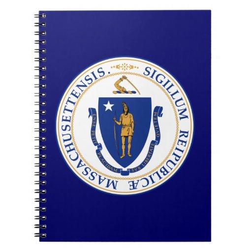 Gran sello de Massachusetts Libro De Apuntes Con Espiral