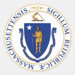 Gran sello de Massachusetts Pegatinas