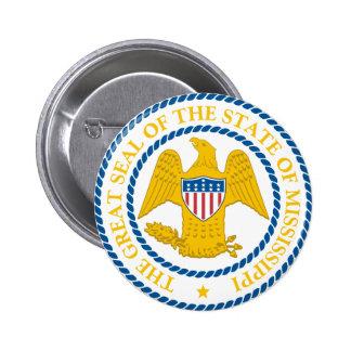 Gran sello de Mississippi Pin Redondo 5 Cm