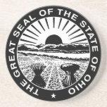 Gran sello de Ohio Posavasos Diseño
