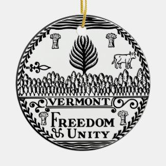 Gran sello de Vermont Adorno Navideño Redondo De Cerámica