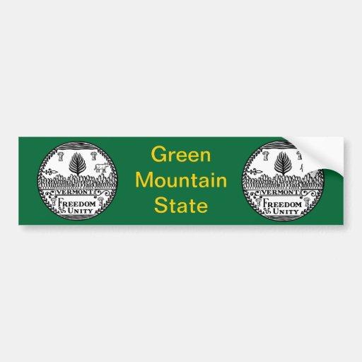Gran sello de Vermont Pegatina Para Auto