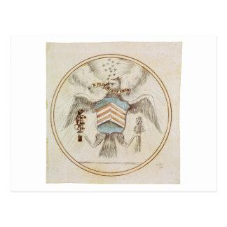 Gran sello del diseño original de los Estados Postal