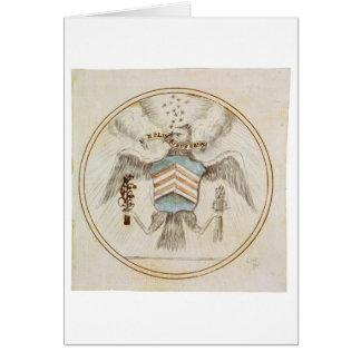 Gran sello del diseño original de los Estados Unid Felicitación