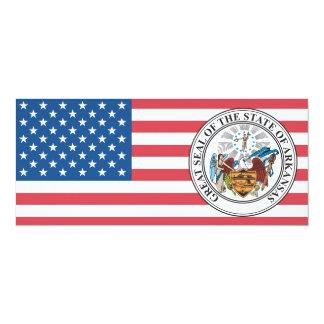 """Gran sello del estado de Arkansas Invitación 4"""" X 9.25"""""""