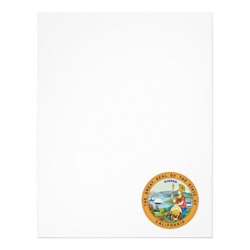 Gran sello del estado de California Membrete Personalizado