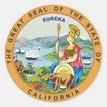 Gran sello del estado de California Pegatina Redonda