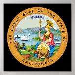 Gran sello del estado de California Póster