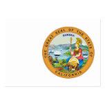 Gran sello del estado de California Tarjetas De Visita Grandes