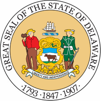 Gran sello del estado de Delaware Escultura Fotografica