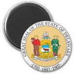 Gran sello del estado de Delaware Imán De Frigorifico