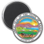 Gran sello del estado de Kansas Imán De Nevera