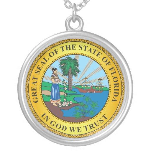 Gran sello del estado de la Florida Colgante Redondo