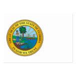 Gran sello del estado de la Florida Tarjetas De Visita Grandes