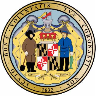 Gran sello del estado de Maryland Escultura Fotográfica