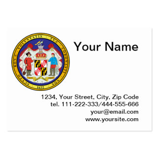 Gran sello del estado de Maryland Tarjetas De Visita Grandes