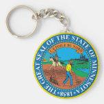 Gran sello del estado de Minnesota Llavero Redondo Tipo Chapa