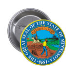Gran sello del estado de Minnesota Chapa Redonda 5 Cm