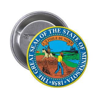 Gran sello del estado de Minnesota Pin Redondo 5 Cm