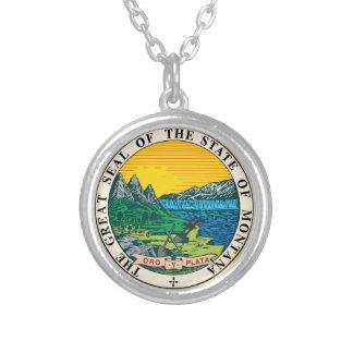 Gran sello del estado de Montana Colgante Redondo