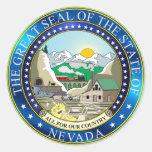 Gran sello del estado de Nevada Pegatinas