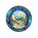 Gran sello del estado de Nevada Tarjetas Postales