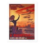 Gran semana de la aviación - poster que agita de postales
