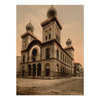 Gran sinagoga de Turín, Piamonte, Italia Poster