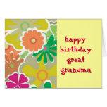 Gran tarjeta de cumpleaños de la abuela del flower