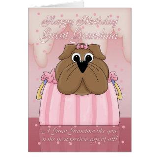 Gran tarjeta de cumpleaños de la abuela - dogo lin