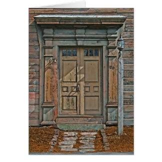 Gran tarjeta de felicitación de las puertas #3 de