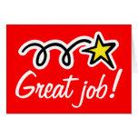 Gran tarjeta de felicitación del trabajo para el e